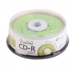 Лазер диск SmartBuy CD-R 700Mb 52x fresh-Kiwifruit Cake box 25 шт.
