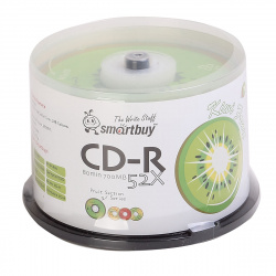 Лазер диск SmartBuy CD-R 700Mb 52x fresh-Kiwifruit Cake box 50 шт.