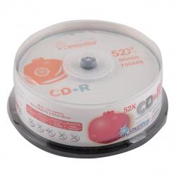 Лазер диск SmartBuy CD-R 700Mb 52x fresh-orange Cake box 25 шт.