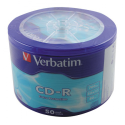 Лазер диск Verbatim CD-R 700Mb 52x Extra Protection Bulk 50шт (43787)