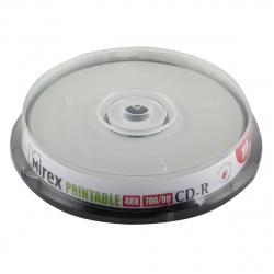 Лазер диск Mirex CD-R 700Mb 48x Cake Box 10 шт. PRINT