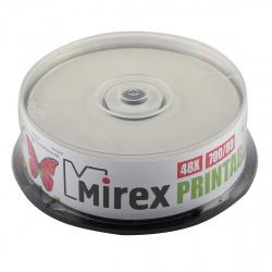Лазер диск Mirex CD-R 700Mb 48x Cake Box 25 шт. PRINT