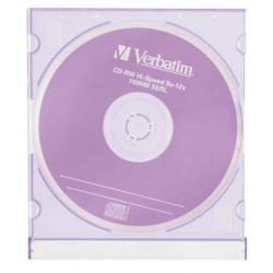 Лазер диск Verbatim CD-RW 700МБ 8-12x  Slim
