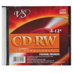 Лазер диск VS CD-RW 700МБ 12x Slim