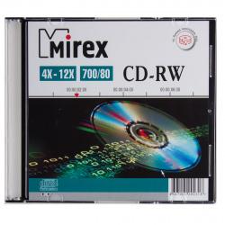 Лазер диск Mirex CD-RW 700МБ 12x Slim