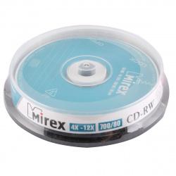 Лазер диск Mirex CD-RW 700МБ 12x Cake box 10 шт.