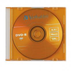 Лазер диск Verbatim DVD-R 4.7 Gb 16х Slim