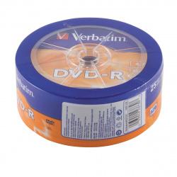 Лазер диск Verbatim DVD-R 4.7 Gb 16х Bulk 25 шт.