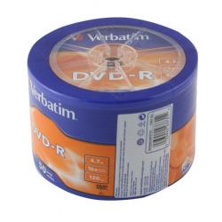 Лазер диск Verbatim DVD-R 4.7 Gb 16х Bulk 50 шт.