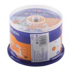 Лазер диск Verbatim DVD-R 4.7 Gb 16х Cake box 50 шт. PRINT