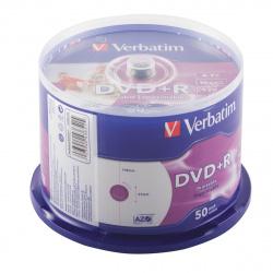 Лазер диск Verbatim DVD+R 4.7 Gb 16х Cake box 50 шт. PRINT