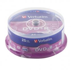 Лазер диск Verbatim DVD+R 4.7 Gb 16х Cake box 25 шт.