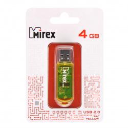 Флеш-память USB 4 Gb Mirex Elf USB 2.0, желтый