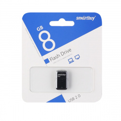 Флеш-память USB 8 Gb Smartbuy ART Black (SB8GBAK)