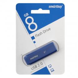 Флеш-память USB 8 Gb Smartbuy Dock Blue  (SB8GBDK-B)