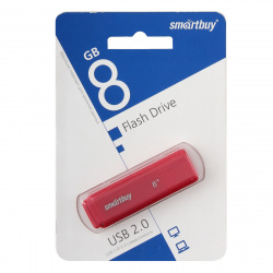 Флеш-память USB 8 Gb Smartbuy Dock Red  (SB8GBDK-R)