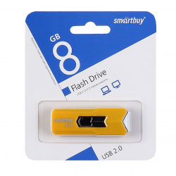 Флеш-память USB 8 Gb Smartbuy STREAM Yellow (SB8GBST-Y)