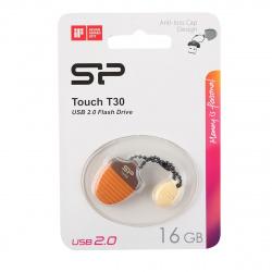 Флеш-память USB 16 Gb Silicon Power Touch T30 Hazelnut