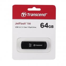 Флеш-память USB 64 Gb Transcend JetFlash 700 3.0 Black