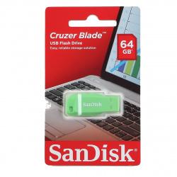 Флеш-память USB 64 Gb SanDisk CZ50 Cruser Blade, USB 2.0 Green