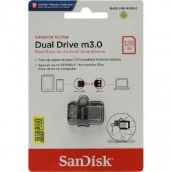 Флеш-память USB 128 Gb SanDisk Ultra Android Dual Drive OTG, m3.0/USB 3.0