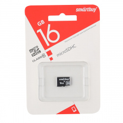 Карта памяти microSDHC 16GB Class10 SmartBuy