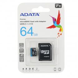 Карта памяти microSDXC 64GB Class 10 UHS-I A1 100/25 MB/s + адаптер A-DATA