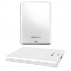 Внешний жёсткий диск A-DATA 1Tb  HV620S USB 3.1 Slim белый