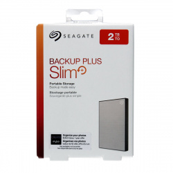 "Внешний жёсткий диск Seagate Original STHN2000401 2 TB / 2.5"" / USB 3.0 Backup Plus Slim silver"