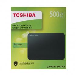 Внешний жёсткий диск Toshiba 500Gb HDTB405EK3AA 2,5' Canvio USB 3.0 Black