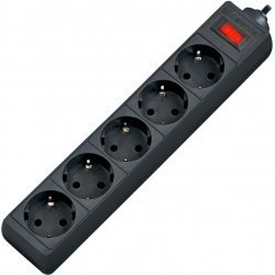 Сетевой фильтр 5 розеток Defender ES largo (5,0 м) Black