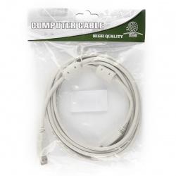 Кабель USB 2.0  А-B 3 метра с ферритовыми кольцами (841876)