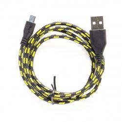 Кабель USB 2.0 A-micro B (m-m), 1,0 м, ткан.оплетка Defender