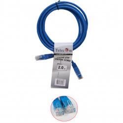 Кабель Patch Cord литой Telecom многожильный UTP кат.5е 2м синий <NA102-L-2M_317536>