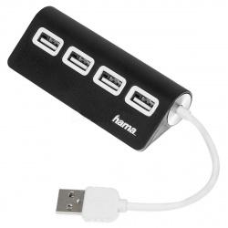 Концентратор USB 2.0 HAMA 4 порта TopSide черный (Н-12177) 973613