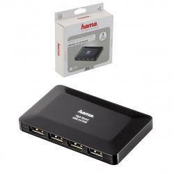 Концентратор USB 2.0 HAMA 4 порта активный, Activel черный (Н-78472)