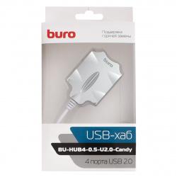 Концентратор USB 2.0 Buro Candy  (549517/1001418)