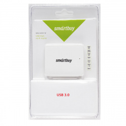 Концентратор USB-HUB Smartbuy 4 Port (SBHA-6000-W) USB 3.0