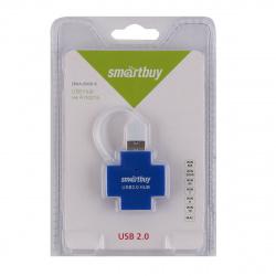 Концентратор USB-HUB Smartbuy 4 Port (SBHA-6900-B)