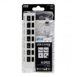 Концентратор USB-HUB Smartbuy 7 Port, с выключателями (SBHA-7207-W) белый