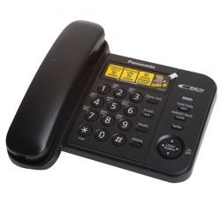Телефон Panasonic KX-TS 2356 RUВ черный (АОН, ЖК)