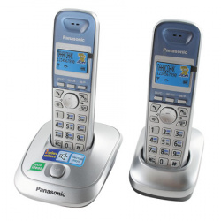 Радио телефон Panasonic KX-TG 2512 RUS (2 трубки, АОН, подсветка дисплея, спикерфон)