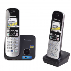 Радио телефон Panasonic KX-TG 6812 RU (2 трубки, АОН, спикерфон, резервное питание)