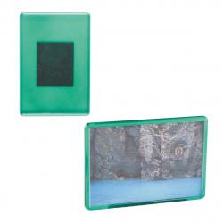 Магнит прямоуг. 55х80мм. (акриловый,зеленый) заготовка Sublimation