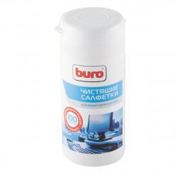 Туба с чистящими салфетками BURO для экранов BU-Tscreen (100 шт.) 817439