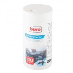 Туба с чистящими салфетками BURO для пласт.поверх. и офис. мебели BU-Tsurl (100 шт.) 817442