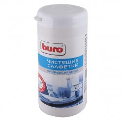 Туба с чистящими салфетками BURO универс. BU-Tmix (65 влажных + 65 сухих) (817437)