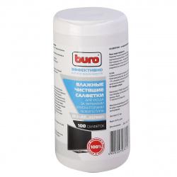 Туба с чистящими салфетками BURO для экранов BU-All_screen (100 шт.) 379608