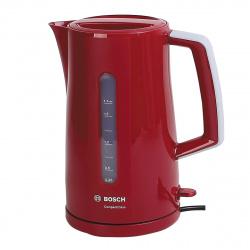 Чайник электрический Bosch TWK3A014 красный (1,7л./2400 Вт/диск)