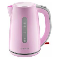Чайник электрический Bosch TWK 7500 розовый/серый (1,7л./2200 Вт/диск)